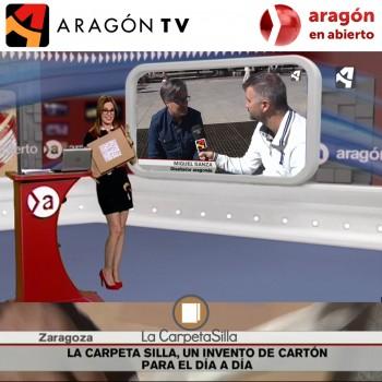 """La Carpeta Silla en el programa """"Aragón en Abierto"""" en Aragón television."""