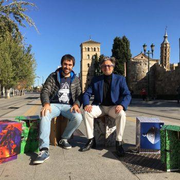"""Emisión, Reportaje, La Carpeta Silla, programa, """"En Ruta con la Ciencia"""", Aragón TV, Zaragoza."""