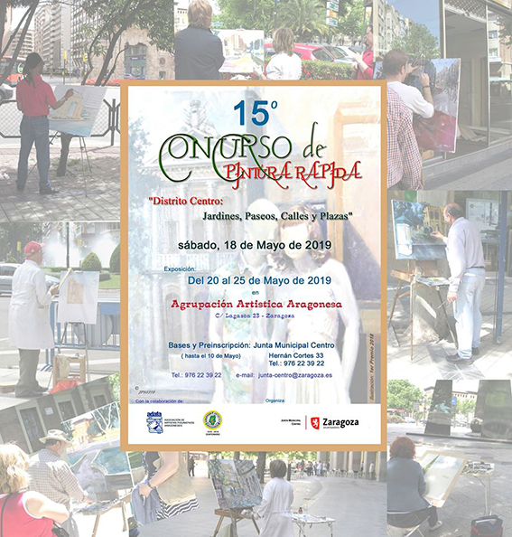 "en XV Concurso de Pintura Rápida 'Distrito Centro: ""Jardines, Paseos, Calles o Plazas del Distrito Centro"""