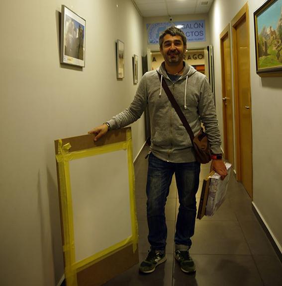 La Carpeta Silla con los pintores participantes en XV Concurso de Pintura Rápida 'Distrito Centro