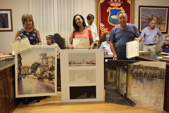 """Los ganadores en el Certamen Internacional de Pintura Rápida """"Villa de Riaza"""""""
