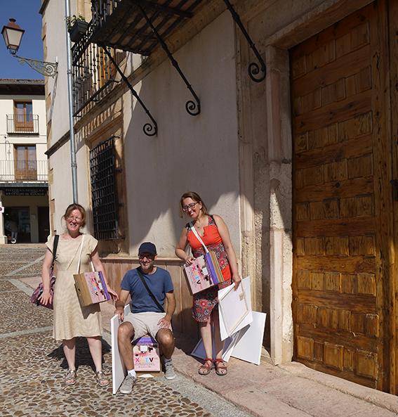 Artistas y la carpeta silla